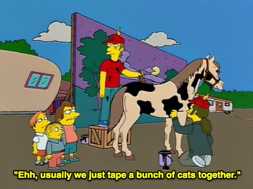 simpsons filming horses