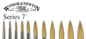 Windsor and Newton Series 7 Paint Brushes