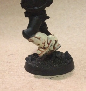 technique for painting bone