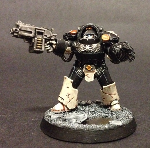 Terminator with power fist and storm bolter