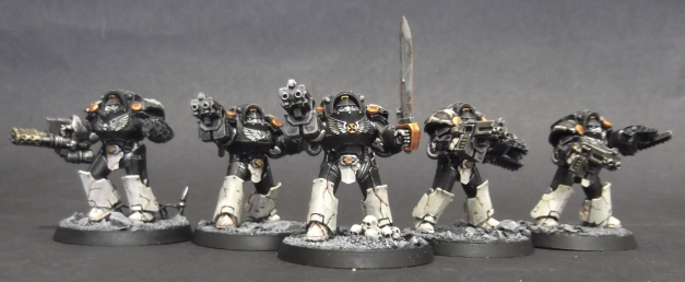 Mortifactors Terminator Squad in Tartaros Pattern Armour