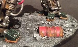 rusted barrel base