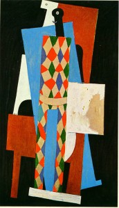 Harlequin In Autumn by Pablo Picasso