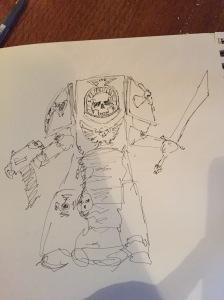1st cap sketch