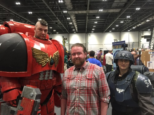 me with a blood angel and a guardsman