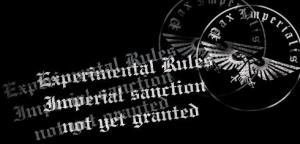 experimental rules