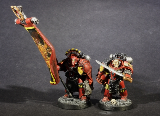 blood angels space marines mkiv command squad