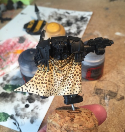 leopard cloak miniature