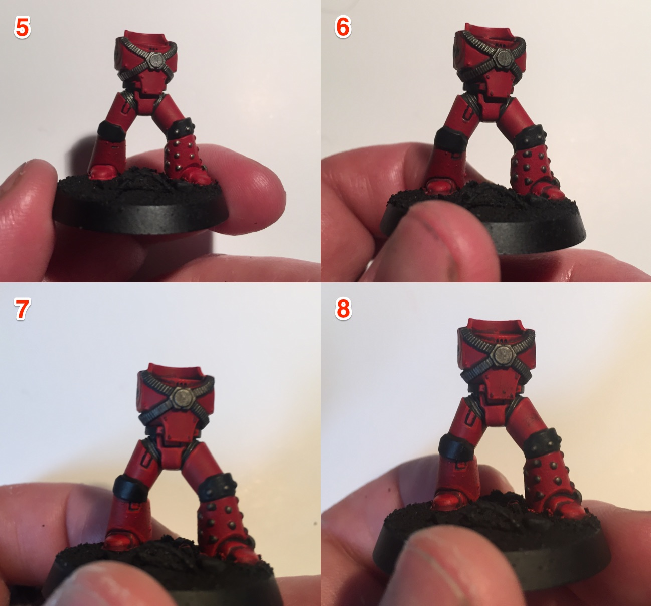 how to paint 30k blood angels