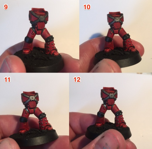 painting a 30k blood angel tactical marine