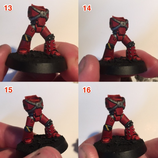 painting blood angels legs and bodies