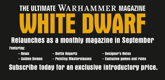 white dwarf going monthly