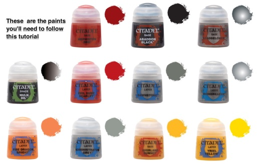 paints for 30k blood angels
