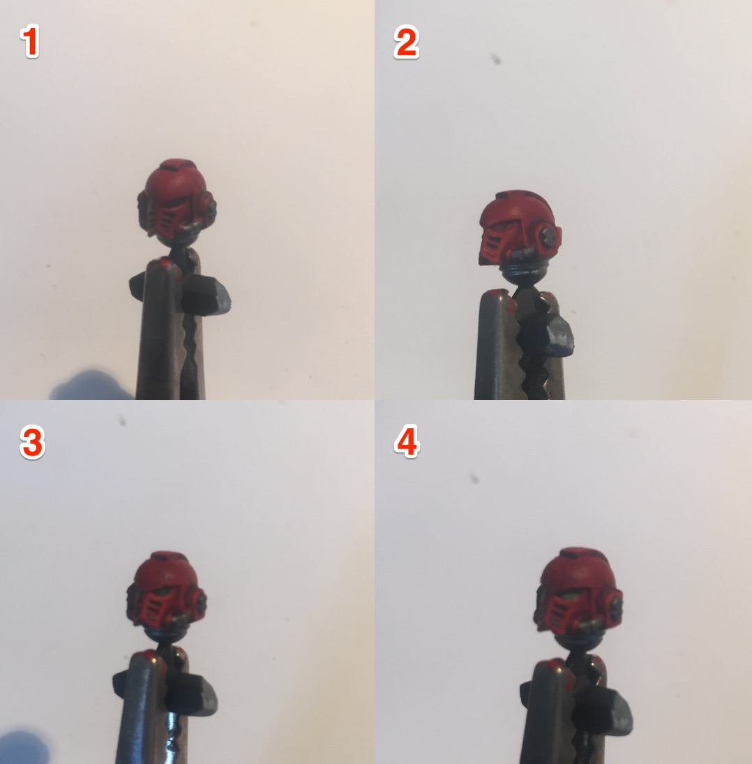 painting a blood angels head
