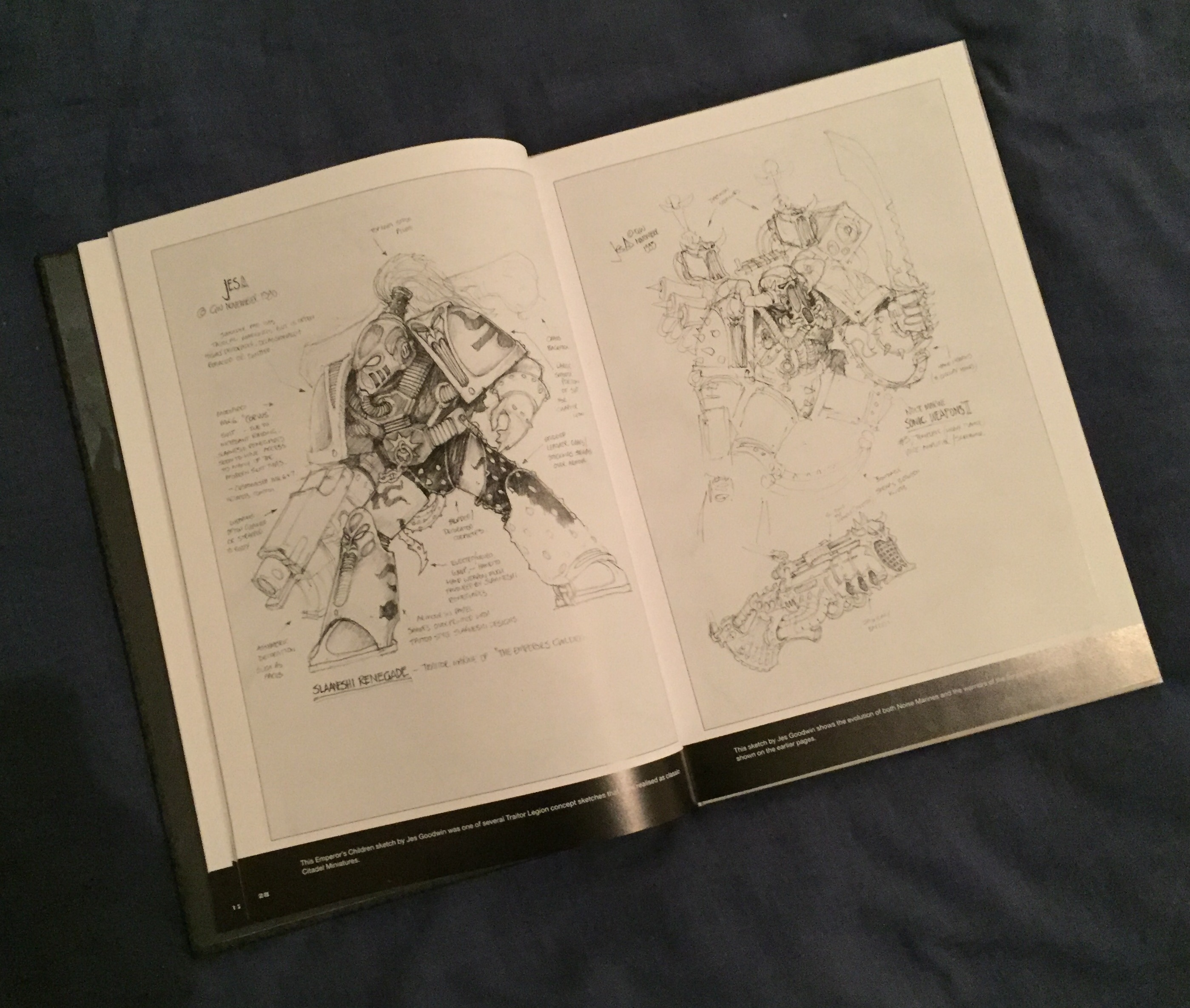 jes goodwin chaos space marine sketch