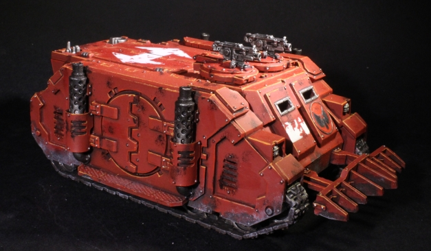blood angels deimos rhino with combi bolter