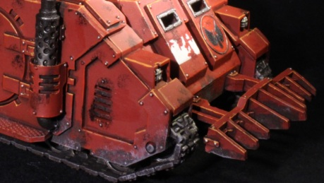 simple weathering on a rhino