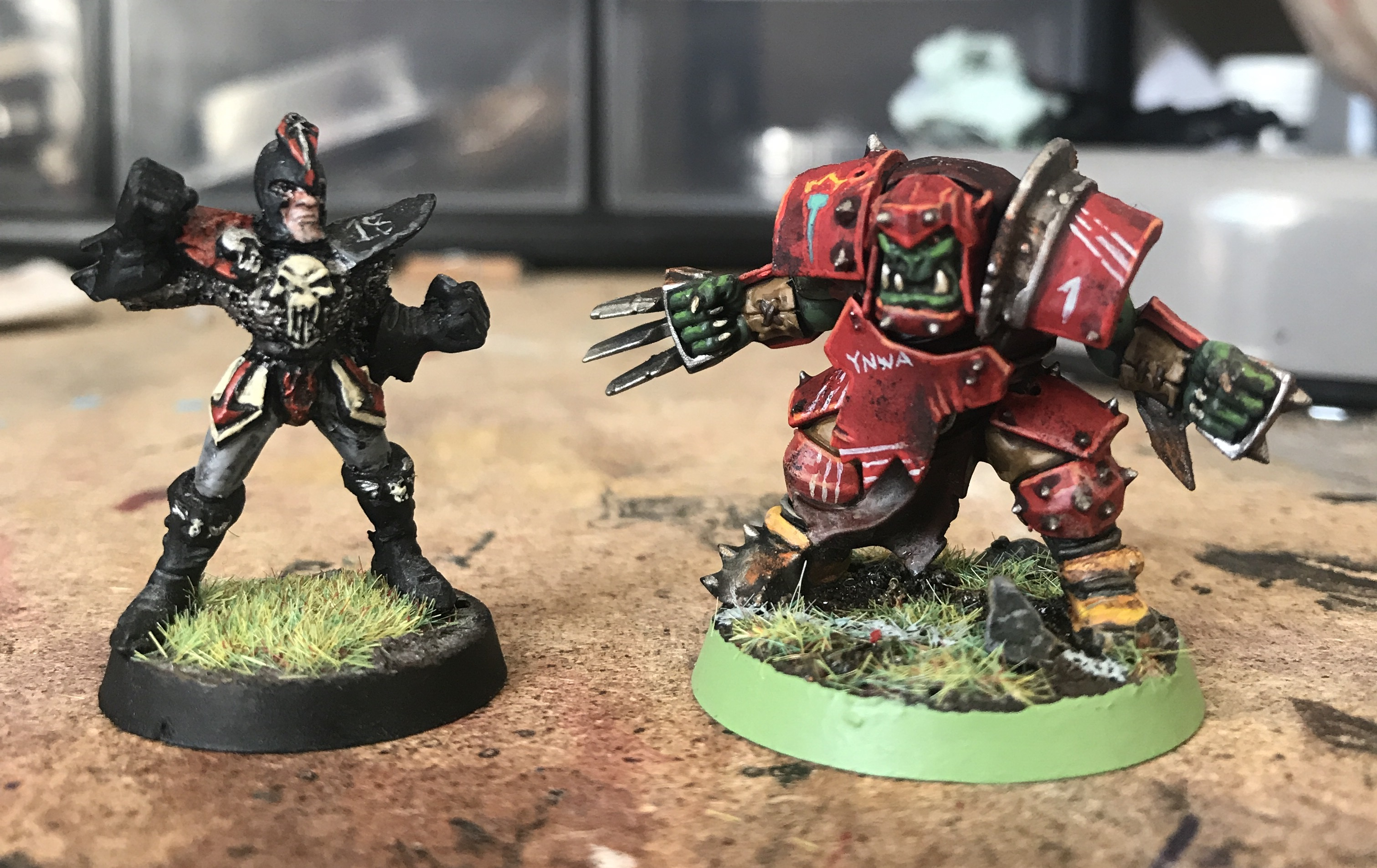 old new blood bowl painting