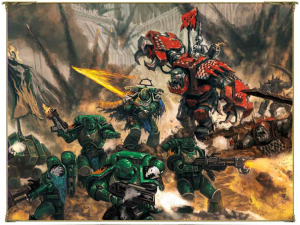 orcs and space marines