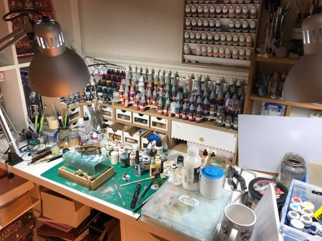 painting desk arla