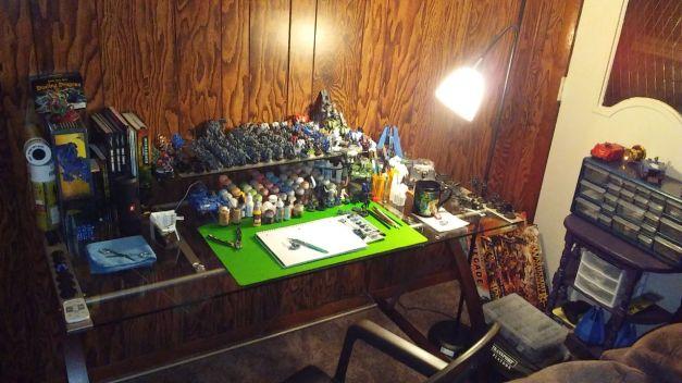 painting desk brad