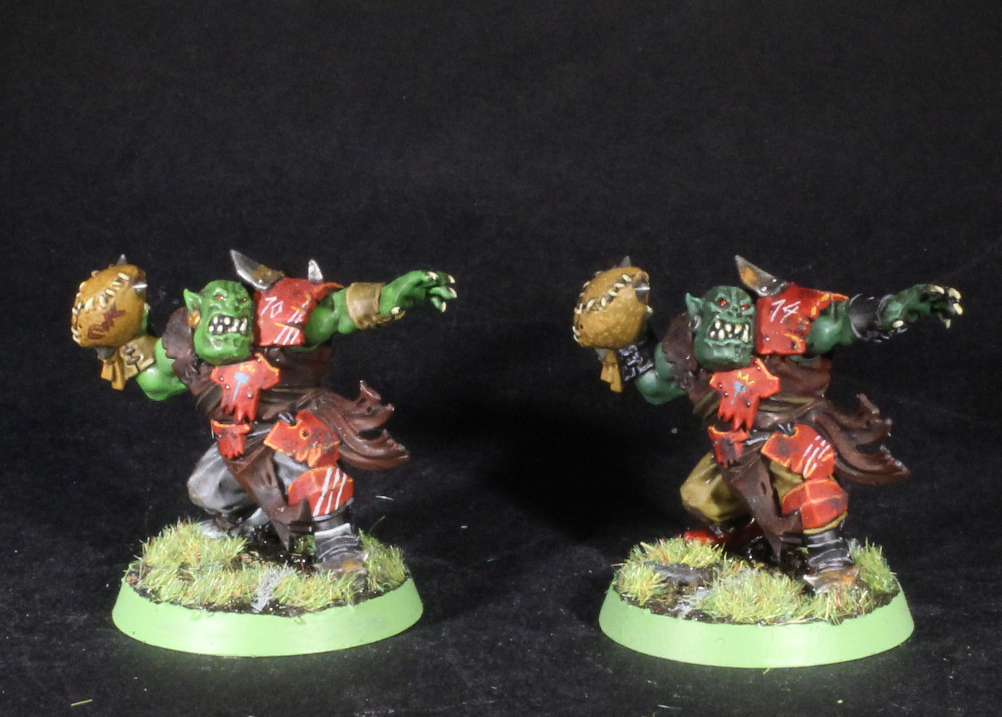 blood bowl orc throwers