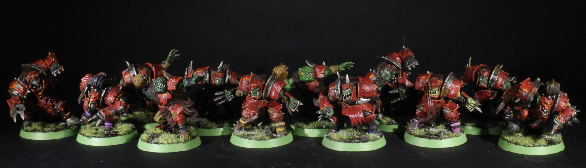 Da Mighty Redz - Orc Blood Bowl Team