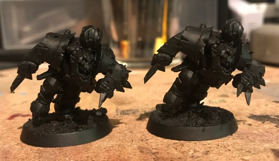 unpainted orc blitzers converted