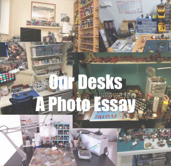 our desks - a photo essay