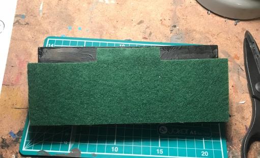 base padding on miniature display plinth