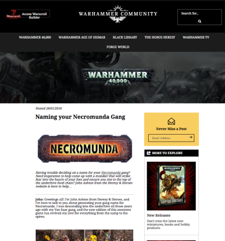 heresy and heroes warhammer community post