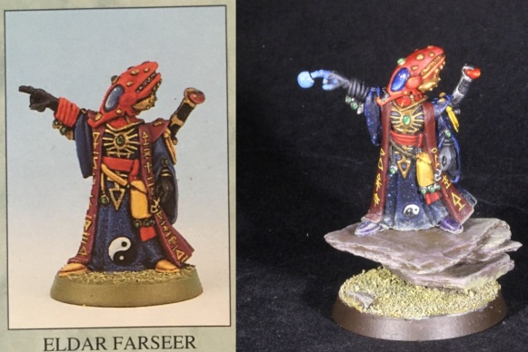 old eldar farseer comparison
